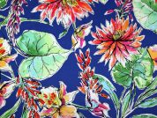 Floral Print Stretch Cotton Sateen Dress Fabric  Multicoloured