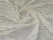 Sparkle Lace Tulle Fabric  Ivory