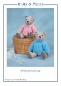Sandra Polley Annie & George Teddy Bear Toys Knitting Pattern KP01  4 Ply