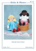 Sandra Polley Hannah & Grace Doll Toys Knitting Pattern KP08  DK