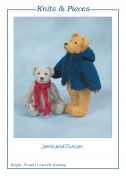 Sandra Polley Jamie & Duncan Teddy Bear Toys Knitting Pattern KP10  4 Ply
