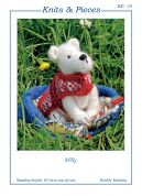 Sandra Polley Milly The Dog Toy Knitting Pattern KP15  DK