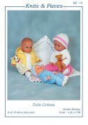 Sandra Polley Baby Dolls Clothes Knitting Pattern KP19  4 Ply, DK