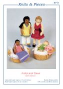 Sandra Polley Anika & Dawn Doll Toys Knitting Pattern KP25  4 Ply, DK