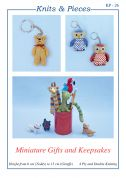 Sandra Polley Miniature Gifts & Keepsakes Knitting Pattern KP26  4 Ply, DK