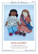 Sandra Polley Craft Easy Sewing Pattern KP27 Alisha & Molly Rag Doll Toys