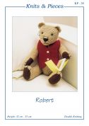 Sandra Polley Robert Teddy Bear Toy Knitting Pattern KP28  DK