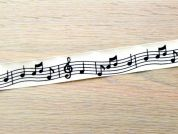 Musical Notes Cotton Print Ribbon