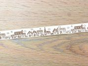 Village Scene Print Ribbon