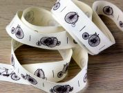 Vintage Style Penny Farthing Cotton Rustic Ribbon