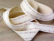 Vintage Style Floral Print Cotton Rustic Webbing Ribbon