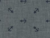 Robert Kaufman Anchor Chambray Denim Dress Fabric  Indigo