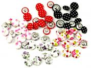 Fabric Covered Round Assorted Buttons