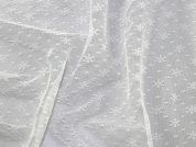 Floral Design Soft Tulle Net Fabric  Ivory