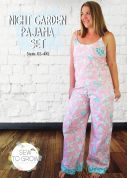 Sew To Grow Ladies Sewing Pattern Night Garden PJ Set
