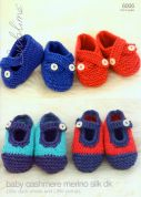 Sublime Baby Deck Shoes & Pumps Cashmere Merino Silk Knitting Pattern 6006  DK