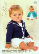 Sublime Baby Cardigans Cashmere Merino Silk Knitting Pattern 6007  DK