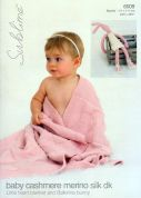Sublime Baby Blanket & Bunny Toy Cashmere Merino Silk Knitting Pattern 6009  DK