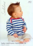 Sublime Baby Sweater Cashmere Merino Silk Knitting Pattern 6013  DK
