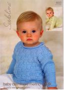 Sublime Baby Sweaters Cashmere Merino Silk Knitting Pattern 6023  DK