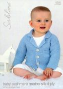 Sublime Baby Coat Cashmere Silk Merino Knitting Pattern 6025  4 Ply