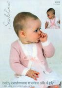 Sublime Baby Cardigans Cashmere Silk Merino Knitting Pattern 6029  4 Ply