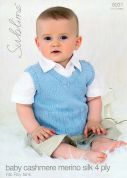 Sublime Baby Tank Top Cashmere Silk Merino Knitting Pattern 6031  4 Ply