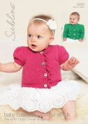 Sublime Baby Cardigans Cashmere Merino Silk Knitting Pattern 6050  DK