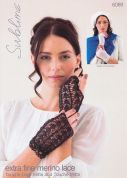 Sublime Ladies Mitts Wrist Warmers Extra Fine Merino Knitting Pattern 6089  Lace