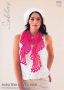 Sublime Ladies Scarf Crochet Pattern 6090  Lace