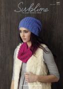 Sublime Ladies Hat & Snood Superfine Alpaca Knitting Pattern 6111  DK