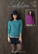 Sublime Ladies Sweaters Superfine Alpaca Knitting Pattern 6113  DK