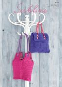 Sublime Ladies Bags Lola Knitting Pattern 6123  Super Chunky