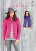 Sublime Ladies Jacket & Waistcoat Lola Knitting Pattern 6124  Super Chunky