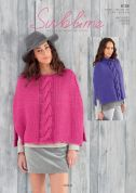 Sublime Ladies Ponchos Lola Knitting Pattern 6126  Super Chunky