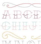 Sublime Stitching Embroidery Transfer Tattoo Alphabet