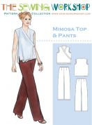 The Sewing Workshop Ladies Sewing Pattern Mimosa Top & Trouser Pants