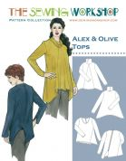 The Sewing Workshop Ladies Sewing Pattern Alex & Olive Tops