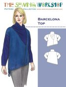 The Sewing Workshop Ladies Sewing Pattern Barcelona Top