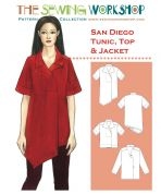 The Sewing Workshop Ladies Sewing Pattern San Diego Tunic Top & Jacket