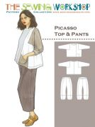 The Sewing Workshop Sewing Pattern Picasso Top & Trousers