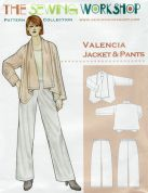 The Sewing Workshop Sewing Pattern Valencia Jacket & Trousers