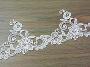 12.5cm Guipure Edging Couture Bridal Lace Trimming  Ivory
