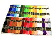 Trebla Embroidery Silks Floss Thread Pack  36 Assorted Colours