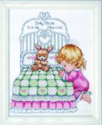 Tobin Baby Counted Cross Stitch Kit Bedtime Prayer Girl Sampler