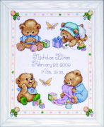 Tobin Baby Counted Cross Stitch Kit Baby Bears Sampler