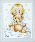 Tobin Baby Counted Cross Stitch Kit Angel Sampler