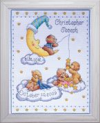 Tobin Baby Counted Cross Stitch Kit Heavenly Bears Sampler