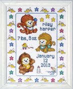 Tobin Baby Counted Cross Stitch Kit Monkeys in the Bed Sampler