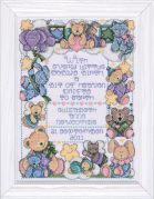 Tobin Baby Counted Cross Stitch Kit A Bit of Heaven Sampler